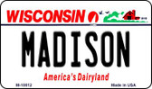 Madison Wisconsin State License Plate Novelty Wholesale Magnet M-10612