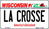 La Crosse Wisconsin State License Plate Novelty Wholesale Magnet M-10617