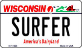 Surfer Wisconsin State License Plate Novelty Wholesale Magnet M-10628