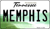 Memphis Tennessee State License Plate Wholesale Magnet M-6414