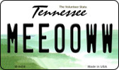 Meeooww Tennessee State License Plate Wholesale Magnet M-6459