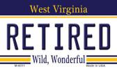 Retired West Virginia State License Plate Wholesale Magnet M-6511