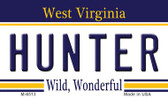 Hunter West Virginia State License Plate Wholesale Magnet M-6513