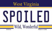 Spoiled West Virginia State License Plate Wholesale Magnet M-6530