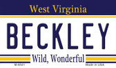 Beckley West Virginia State License Plate Wholesale Magnet M-6541