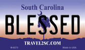 Blessed South Carolina State License Plate Wholesale Magnet M-6273
