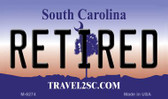 Retired South Carolina State License Plate Wholesale Magnet M-6274