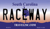 Raceway South Carolina State License Plate Wholesale Magnet M-6310