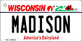 Madison Wisconsin License Plate Novelty Wholesale Key Chain KC-10612