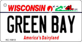 Green Bay Wisconsin License Plate Novelty Wholesale Key Chain KC-10613