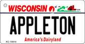 Appleton Wisconsin License Plate Novelty Wholesale Key Chain KC-10614