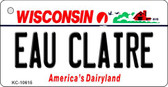 Eau Claire Wisconsin License Plate Novelty Wholesale Key Chain KC-10615