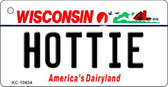Hottie Wisconsin License Plate Novelty Wholesale Key Chain KC-10634