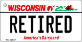 Retired Wisconsin License Plate Novelty Wholesale Key Chain KC-10637