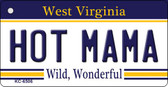 Hot Mama West Virginia License Plate Wholesale Key Chain