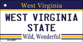 West Virginia University License Plate Wholesale Key Chain