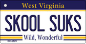 Skool Suks West Virginia License Plate Wholesale Key Chain