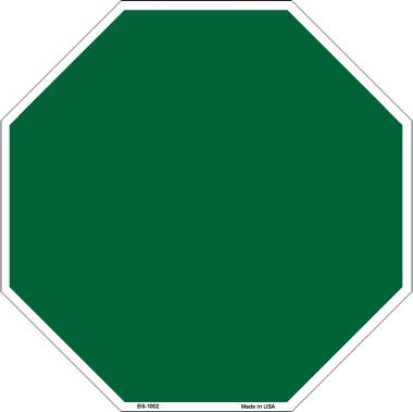 Green Dye Sublimation Wholesale Octagon Metal Novelty Stop