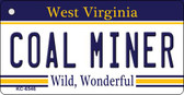 Coal Miner West Virginia License Plate Wholesale Key Chain
