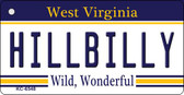 Hillbilly West Virginia License Plate Wholesale Key Chain