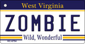 Zombie West Virginia License Plate Wholesale Key Chain