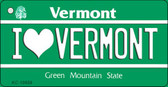 I Love Vermont License Plate Novelty Wholesale Key Chain