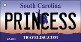 Princess South Carolina License Plate Wholesale Key Chain