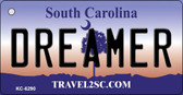 Dreamer South Carolina License Plate Wholesale Key Chain