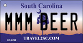 MMM Beer South Carolina License Plate Wholesale Key Chain