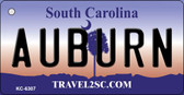 Auburn South Carolina License Plate Wholesale Key Chain