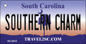 Southern Charm South Carolina License Plate Wholesale Key Chain KC-6314