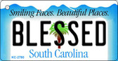 Blessed South Carolina License Plate Wholesale Key Chain KC-2780