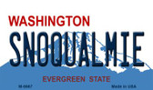 Snoqualmie Washington State License Plate Wholesale Magnet M-8667