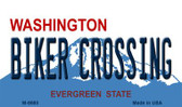 Biker Crossing Washington State License Plate Wholesale Magnet M-8680