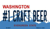 Number 1 Craft Beer Washington State License Plate Wholesale Magnet M-8681