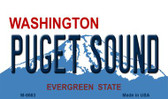 Puget Sound Washington State License Plate Wholesale Magnet M-8683