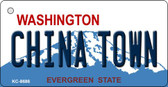 China Town Washington State License Plate Wholesale Key Chain KC-8686