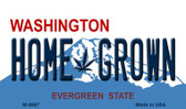 Home Grown Washington State License Plate Wholesale Magnet M-8687