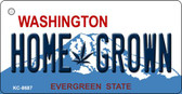 Home Grown Washington State License Plate Wholesale Key Chain KC-8687
