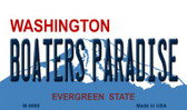 Boaters Paradise Washington State License Plate Wholesale Magnet M-8688