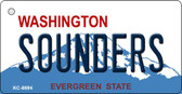 Sounders Washington State License Plate Wholesale Key Chain KC-8694