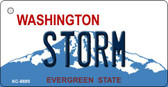Storm Washington State License Plate Wholesale Key Chain KC-8695