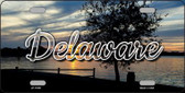 Delaware River Sunset Wholesale State License Plate LP-11591