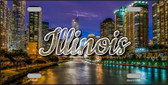 Illinois River City Lights Wholesale State License Plate LP-11597