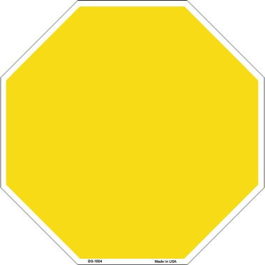 Yellow Dye Sublimation Wholesale Octagon Metal Novelty