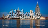 Alabama City Skyline Wholesale Magnet M-11583