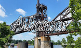 Arkansas Rusty Bridge Wholesale Magnet M-11586