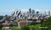Kansas Downtown Skyline Wholesale Magnet M-11600