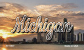 Michigan City Sunset Wholesale Magnet M-11607