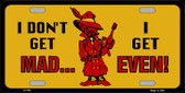 Don't Get Mad Wholesale Metal Novelty License Plate
